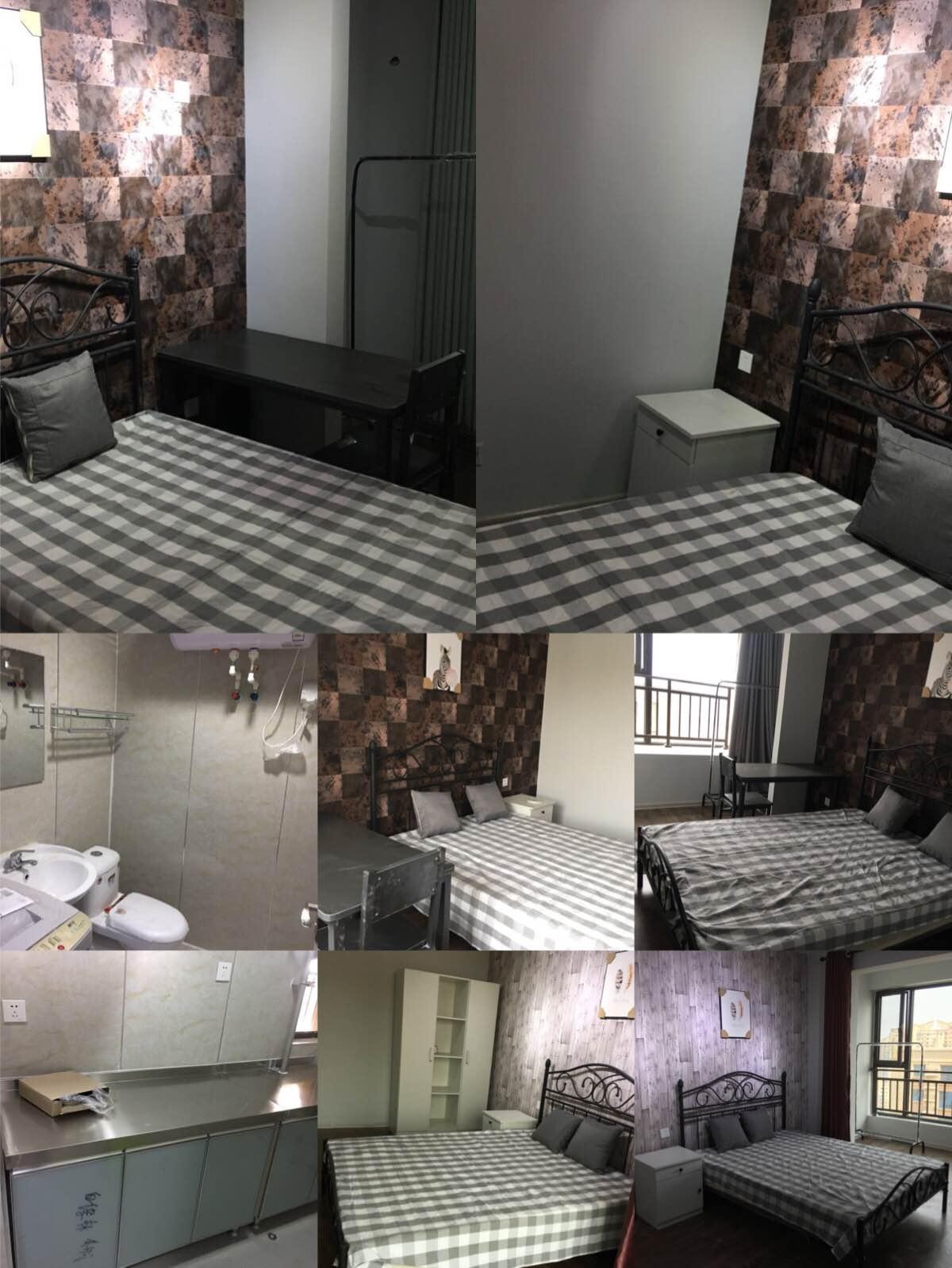 广安云棠三室一厅一卫整租2100/月合租次卧650/月