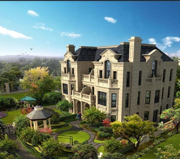 金大元御龙宫廷法式宫殿园林别墅,带游泳池和4个车位