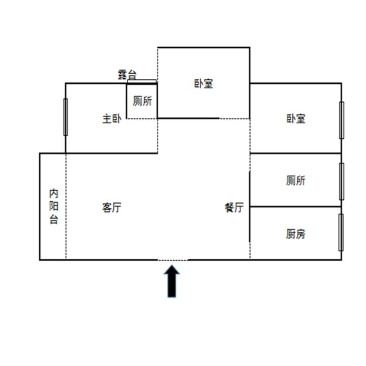 万福苑 3室2厅2卫 58万元